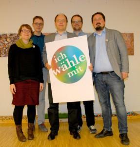 IWM Vorstand 2015 - Andrea Kloß, Robin Eisenreich (Schatzmeister), Peter Rösler, Philip Baugut (stellv. Vorsitzender), Bernhard Goodwin (Vorsitzender)