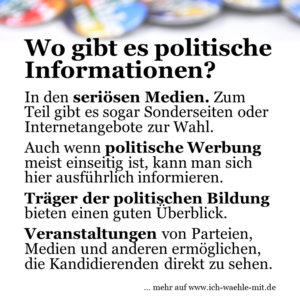 Wo gibt es politische Informationen?